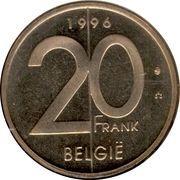 20 Francs - Albert II (Dutch text) -  reverse