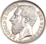 1 Franc - Léopold II (Dutch text) – obverse