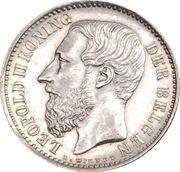 1 Franc - Léopold II (Dutch text) – obverse