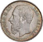 5 Francs - Léopold II (small head) – obverse