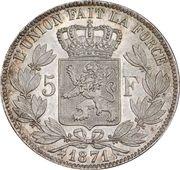 5 Francs - Léopold II – reverse