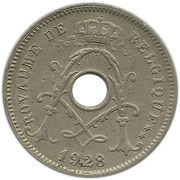 5 Centimes - Albert I (French text) – obverse