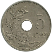 5 Centimes - Albert I (French text) -  reverse