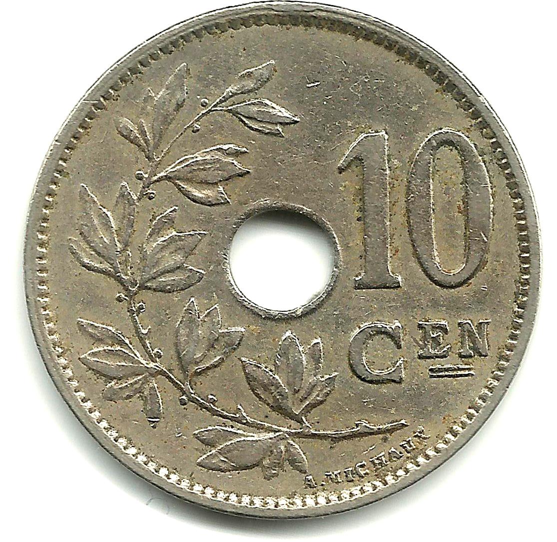 10 Centimes Albert I Dutch Text Belgium Numista