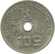 10 Centimes - Léopold III (BELGIE-BELGIQUE) -  reverse