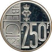 250 Francs - Albert II (Queen Paola) – reverse