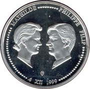 250 Francs - Albert II (Marriage Philippe & Mathilde) – obverse