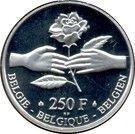 250 Francs - Albert II (Marriage Philippe & Mathilde) – reverse