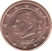 5 Euro Cent - Albert II (2nd type, 1st portrait) – obverse