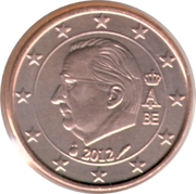 1 Euro Cent - Albert II (2nd type, 1st portrait) – obverse