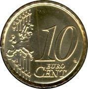10 Euro Cent - Albert II (2nd map, 1st type, 1st portrait) – reverse