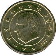50 Euro Cent - Albert II (2nd map, 1st type, 1st portrait) -  obverse