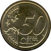 50 Euro Cent - Albert II (2nd map, 1st type, 1st portrait) -  reverse