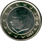 1 Euro - Albert II (2nd map, 1st type, 1st portrait) – obverse