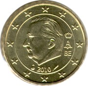 10 Euro Cent - Albert II (2nd map, 2nd type, 1st portrait) – obverse