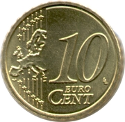 10 Euro Cent - Albert II (2nd map, 2nd type, 1st portrait) – reverse