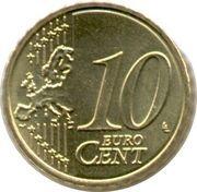 10 Euro Cent - Albert II (2nd map, 2nd type, 1st portrait) – reverse