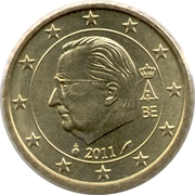 50 Euro Cent - Albert II (2nd map, 2nd type, 1st portrait) -  obverse