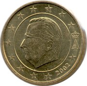 50 Euro Cent - Albert II (1st map, 1st type, 1st portrait) – obverse