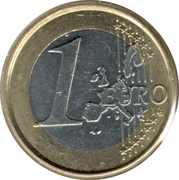 1 Euro - Albert II (1st map, 1st type, 1st portrait) – reverse