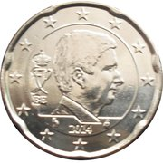 20 Euro Cent - Philippe – obverse