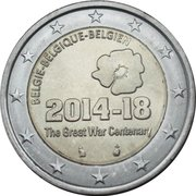 2 Euro - Philippe (100th anniversary of the beginning of the WW I) – obverse
