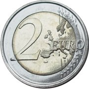 2 Euro - Philippe (100th anniversary of the beginning of the WW I) – reverse