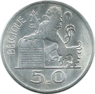 50 Francs - Baudouin I (French text) – reverse
