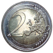 2 Euro - Philippe (Belgian Red Cross) – reverse