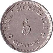 5 Centimes - Léopold I (Essai) – obverse