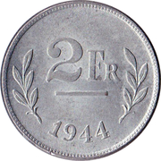 2 Francs (Allied Occupation Coinage) – reverse
