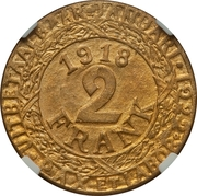 2 Franken (Ghent - WW1 German Occupation Coinage) – reverse