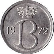 25 Centimes - Baudouin I (Dutch text) – obverse