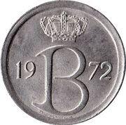 25 Centimes - Baudouin I (Dutch text) – obverse