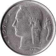 1 Franc - Baudouin I (French text) -  obverse