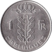 1 Franc - Baudouin I (French text) – reverse