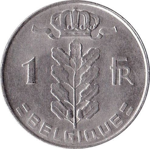 1 Franc Baudouin I French Text