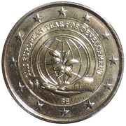2 Euro - Philippe (European Year for Development) – obverse