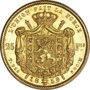 25 Francs - Leopold I – reverse
