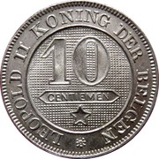 10 Centimes - Léopold II (Dutch text) – reverse