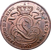 1 Centime - Léopold II (Dutch text) – obverse