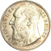 1 Franc - Léopold II (French text) – obverse