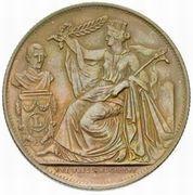 Module de 5 centime 25e Anniversaire de l'inauguration du Roi Léopold Ier (en Néerlandais) – avers