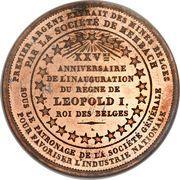 Module de 5 centimes Léopold I  (1856) – revers