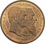 10 Centimes - Léopold II (50 Years of Belgium) – obverse