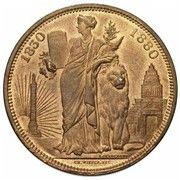 10 Centimes - Léopold II (50 Years of Belgium) – reverse