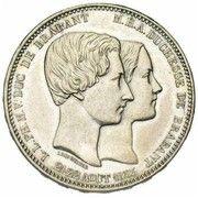 5 Francs - Léopold I (Marriage of The Duke) – reverse