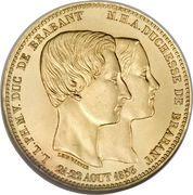 100 Francs- Léopold I (Duke of Brabant's Wedding) – reverse