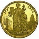 100 Francs - Léopold II (50 Years of Belgium) – reverse