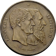 5 Francs - Léopold II (50 Years of Belgium) – obverse